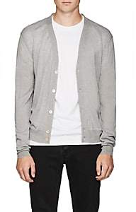 Zadig et Voltaire ZADIG ET VOLTAIRE MEN'S JEFF MERINO WOOL-COTTON CARDIGAN-LIGHT GRAY SIZE L