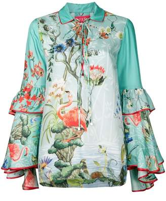 F.R.S For Restless Sleepers floral gypsy polo top
