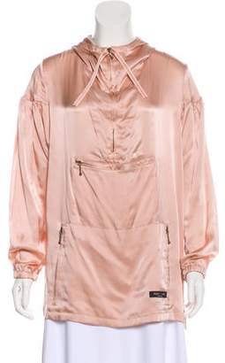 Paul Smith Hooded Silk Popover Jacket