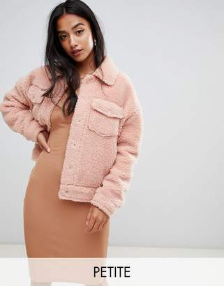 Missguided Petite Teddy Jacket