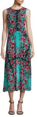 Fuzzi Vintage Floral Block Detail Dress $560 thestylecure.com