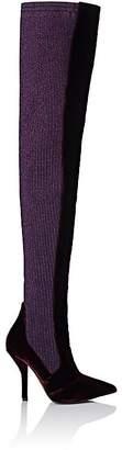 Women's Rockoko Velvet & Knit Cuissard Boots