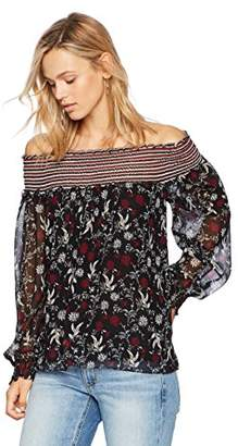Ella Moon Women's Jaylin Long Sleeve Off Shoulder Blouse