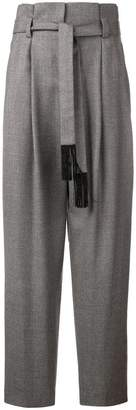 Incotex knotted waist trousers