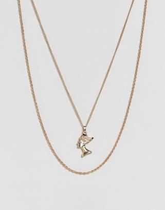 Asos Vintage Style Nefertiti Multirow Necklace