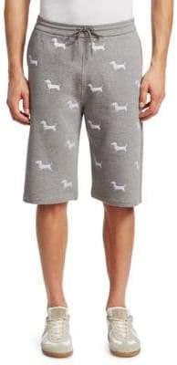 Thom Browne Dog Print Jogger Shorts