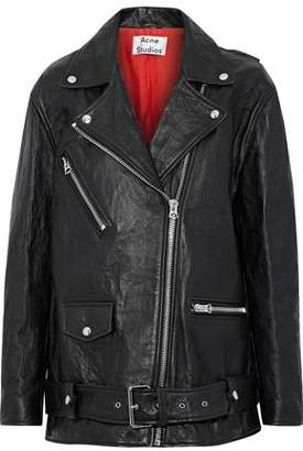 Acne Studios Myrtle Oversized Leather Biker Jacket