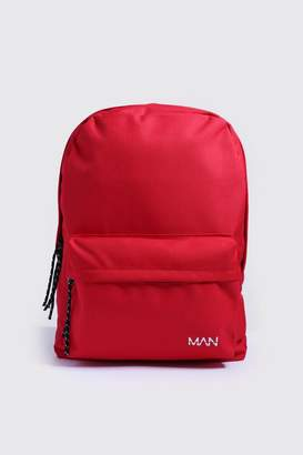 boohoo MAN Print Nylon Backpack