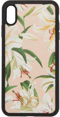 Dolce & Gabbana Pink Lily iPhone XS Max Case