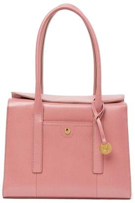 Lodis Business Chic Paula RFID-Protected Coated Leather & Suede Brief Shoulder Bag