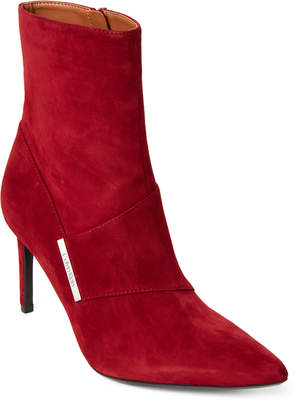 Calvin Klein Red Rock Ruthie Pointed Toe Suede Booties