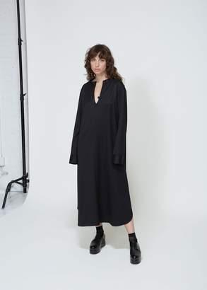 Yohji Yamamoto Y's by Long Sleeve Collarless Dress