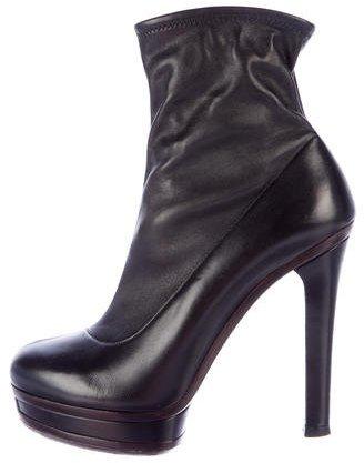 GucciGucci Leather Platform Ankle Boots