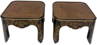 One Kings Lane Vintage Painted Chinoiserie Baker Tables - Set of 2 - Madcap Cottage