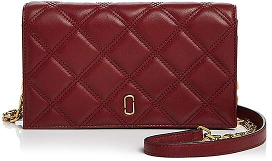 Marc Jacobs Double J Matelasse Leather Chain Wallet