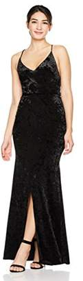 Cambridge Silversmiths The Collection Women's Spaghetti Straps Velvet Empire Waist Long Evening Dress