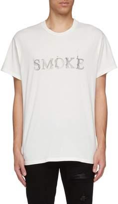 Amiri 'Smoke' slogan print