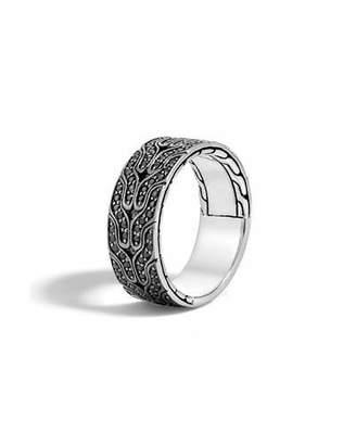 John Hardy Men's Classic Chain Black Lava Sapphire Band Ring $895 thestylecure.com