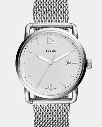 Fossil The Commuter Silver-Tone Analogue Watch