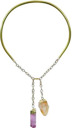 "Ricardo Rodriguez Design Quartz Crystal Necklace ""Terre de Feu"""