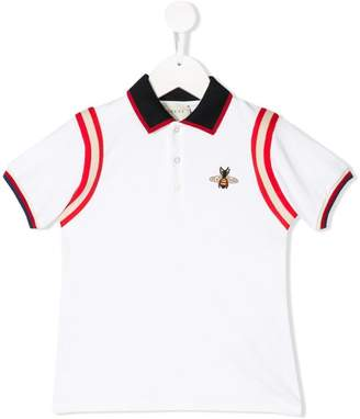 Gucci Kids bee embroidered polo shirt