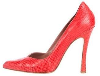 49c0d841ddb Red Snakeskin Heels - ShopStyle