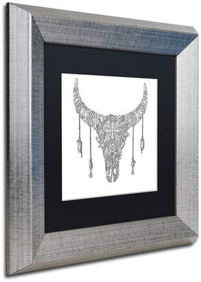 """Buffalo David Bitton Trademark Global Filippo Cardu 'Buffalo Skull' Matted Framed Art, 11"""" x 11"""""""