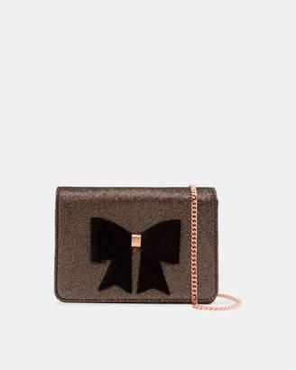 Ted Baker JEMINNA Glitter bow evening bag