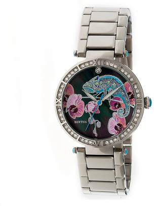 BERTHA Bertha Womens Silver Tone Strap Watch-Bthbr6201