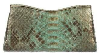 Judith Leiber Metallic Snakeskin Clutch