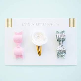 Lovely Littles and Co Eva Rose Hair Clip Collection