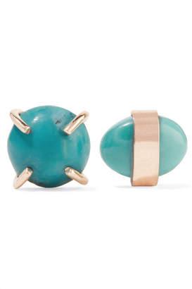 Melissa Joy Manning 14-karat Gold Turquoise Earrings - one size