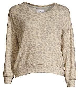 Sundry Women's Leopard Print Sweatshirt