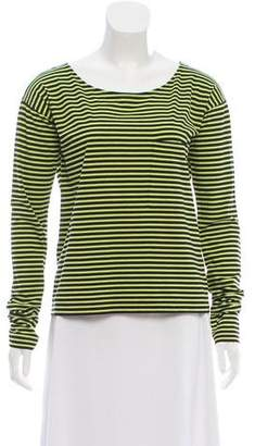 Prada Long Sleeve Striped Top