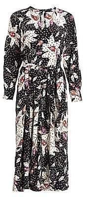 Isabel Marant Women's Lympia Printed Stretch-Silk Midi Dress