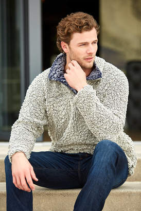 Live Oak Contrast Collar 1/4 Zip Pullover