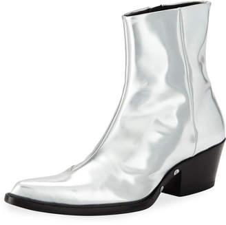 Calvin Klein Men's Temo 4 Metallic Leather Boots