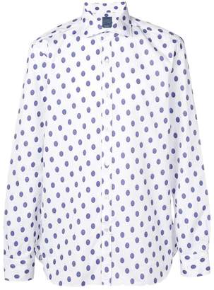 Barba polka dot print shirt