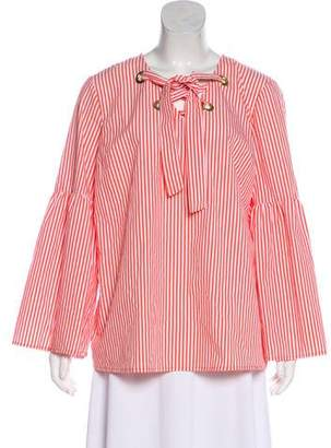 MICHAEL Michael Kors Printed Lace-Up Blouse