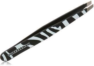 Tweezerman Stainless Steel Slant Zebra Print Tweezer, 1-Count