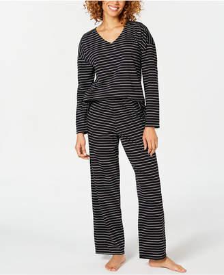 Charter Club Cotton Long-Sleeve Dolman Top and Pajama Pants Set, Created for Macy's