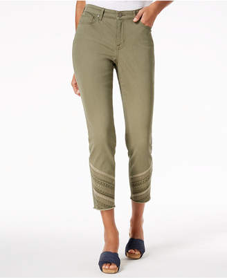 Style&Co. Style & Co Petite Embroidered Skinny Ankle Jeans, Created for Macy's
