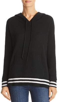 Bloomingdale's C by Striped-Trim Cashmere Hooded Sweater - 100% Exclusive