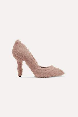 Dolce & Gabbana Faux Fur Pumps - Baby pink