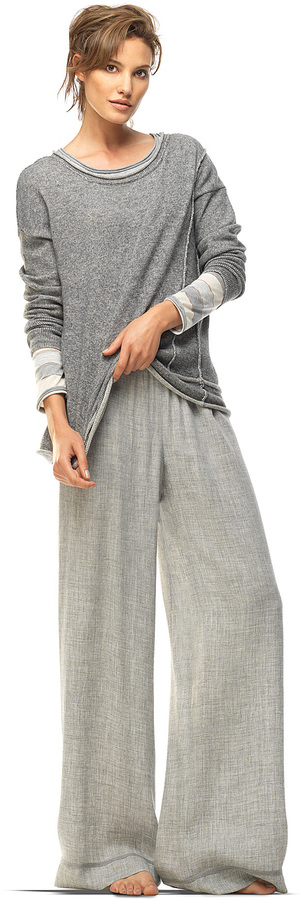 Max Studio Heathered Grey Pullover