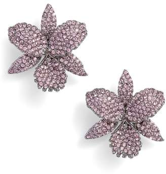 Nina Large Orchid Stud Earrings