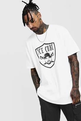 boohoo Short Sleeve Oversized Ice Cube License T-Shirt