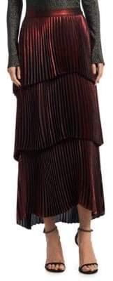 A.L.C. Harley Tiered Metallic Maxi Skirt
