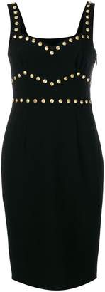 Moschino studded sleeveless dress