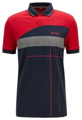9f39081aa BOSS Hugo Martin Kaymer regular-fit polo shirt dynamic artwork L Red